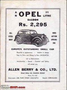 Vintage Advertisements, Vintage Ads, Vintage India, Old Ads, Small Cars, Kolkata, Classic Cars, Advertising, Advice