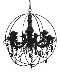 Another great find on #zulily! Black Orb Chandelier by Established 98 #zulilyfinds