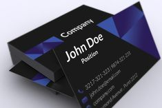 Stylish dark corporate business card template suitable for any kind of business. This template is available for free download as Adobe Photoshop (PSD) file.