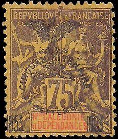 New_Caledonia_1903_75c_Genuine