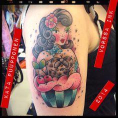 https://www.facebook.com/VorssaInk, http://tattoosbykata.blogspot.fi, #tattoo #tatuointi #katapuupponen #vorssaink #forssa #finland #traditionaltattoo #suomi #oldschool #pinup #cupcake