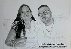 Trabalho em andamento. Desenho realista, eu e minha esposa Jordana Santos. Makaivio Gama Desenhos  Instagram @Makaivio_desenhos.