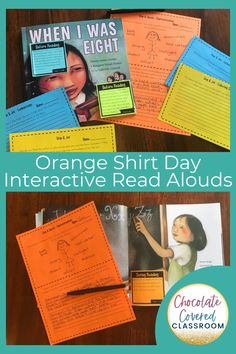 Are you an elementary teacher looking for engaging and meaningful Orange Shirt Day activities? This Interactive Read Aloud bundle has everything that you need to incorporate rich literature into your fall reading lessons. Students will learn about Residential Schools. You will love that all of the planning is done for you with these low prep reading comprehension activities and lessons. Orange shirt day lessons for grade 3 grade 4 and grade 5 students. #readaloud #orangeshirtday Indigenous People Of Canada, Canadian Social Studies, Elementary Teacher, Upper Elementary, Interactive Read Aloud, Classroom Routines, Reading Comprehension Activities, Mentor Texts, Classroom Community