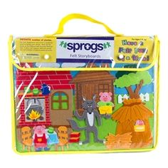 Sprogs Felt Storyboards Set w/ Storage Bag - Three Little Pigs, Gingerbread Man, Goldilocks, Red Riding Hood https://www.schooloutfitters.com/catalog/product_info/pfam_id/PFAM39059/products_id/PRO49401