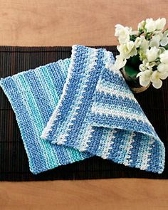 """Create washable Easy Knit Dishcloths in a variety of seasonal colors. Theseknitted dishcloth patternsare perfect <a href=""""https://www.favecrafts.com/Knit-Baby-Blankets/Easy-Free-Knitting-Patterns-and-Help"""" target=""""_blank"""" title=""""45 Quick and Easy Free Knitting Patterns and Beginner Help"""">knitting patterns for beginners</a>. Best of all, they're easy to make, so the s..."""