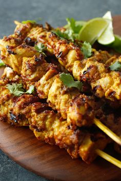 Skewered Chicken With Peanut Sauce Recipe - NYT Cooking