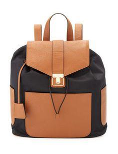 TORY BURCH Penn Nylon & Leather Backpack