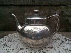 Antique 1800s Silver Plated Tea Pot  Pair by CottonCreekCottage, $48.00