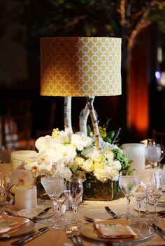 42 Best Lampshade Floral Centerpieces Images Flower Arrangements