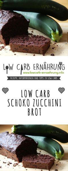 Low Carb Rezept für ein leckeres, zuckerfreies und kohlenhydratarmes Schoko-Zucchini-Brot. Low Carb, ohne Zucker und einfach und schnell zum Nachbacken. Perfekt zum Abnehmen.