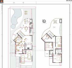 Duplex Plans, Apartment Floor Plans, Box Houses, Architecture Plan, Home Projects, Beautiful Homes, House Plans, Villa, Layout