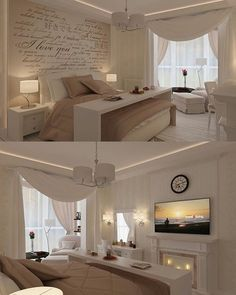 Very practical table to… – Cozy bedroom, nice colors. Very practical table to… – Cozy bedroom, nice colors. Very practical table to… – Cozy bedroom, nice colors. Very practical table to… – Cozy Bedroom, Dream Bedroom, Romantic Bedroom Design, Romantic Bedrooms, Neutral Bedrooms, White Bedrooms, Master Bedroom Design, Trendy Bedroom, Luxurious Bedrooms