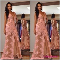 New Style Prom Dress ,Blush Pink Evening Gowns, Lace Prom Gowns,Sexy Prom Dress,Lace Graduation Dres on Luulla Split Prom Dresses, V Neck Prom Dresses, Prom Gowns, Dress Prom, Gowns 2017, Dresses 2016, Pink Dress, Party Dresses, Pink Evening Gowns