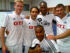 Mehdi Mahdavikia with Andriy Shevchenko & Didier Drogba & Florent Malouda & André Schürrle