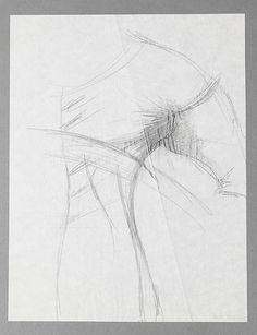 """Gothic,"" Charles James, ca. 1953; paper, graphite. - The Metropolitan Museum of Art  2009.300.3642"