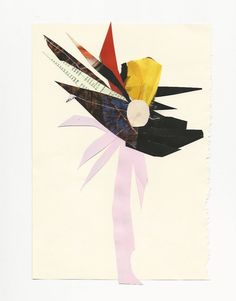"Robert Kuta ""flower"", collage on paper, 2015 /www.robertkuta.com/"