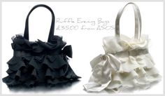 Love these ruffled evening-style bags