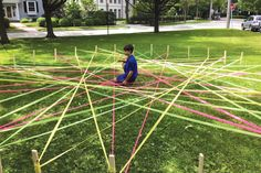 Recipes for large and small-scale geometric string art projects from Todd Burleson, SLJ's 2016 School Librarian of the Year.