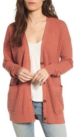 Hinge Pointelle Cardigan Sweater  57cefd65d