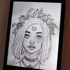 pin: l i s s e t t e✨💜 Girl Drawing Sketches, Pencil Art Drawings, Cool Art Drawings, Easy Drawings, Arte Sketchbook, Love Art, Painting & Drawing, Art Reference, Illustration Art