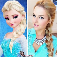 Imogen Foxy Locks: Volumised French Braid Hairstyle ~ Disney's Elsa from Frozen ~ Hair Tutorial