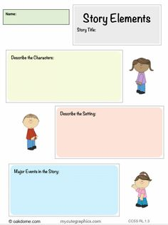 iPad Common Core Graphic Organizer - Story Elements (Pages Template for iPad): http://oakdome.com/k5/lesson-plans/iPad-lessons/ipad-common-core-graphic-organizer-story-elements.php