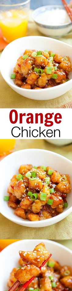 USA - Orange chicken – crazy easy orange chicken recipe that takes 30 mins to make. Cheap, healthy and a zillion times better than Chinese takeout!! | rasamalaysia.com