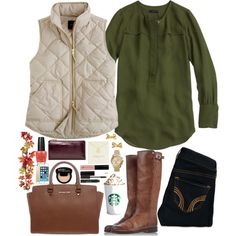 finally fall by madifetherolf on Polyvore featuring polyvore, fashion, style, J.Crew, Hollister Co., Golden Goose, MICHAEL Michael Kors, Burberry, Kate Spade and NYX