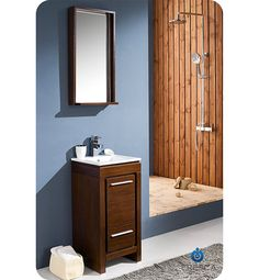 Fresca+Allier+(single)+15.75-Inch+Wenge+Brown+Modern+Bathroom+Vanity+Set