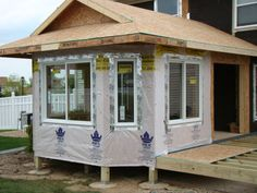 window installation four season porch addition lakeville mn House With Porch, House Front, Small Sunroom, Sunroom Ideas, Sunroom Addition, Master Bedroom Addition, Family Room Addition, Sunroom Windows, Four Seasons Room