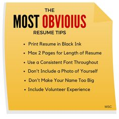 Amazing Here Are The Most Obvious #resumetips! #career