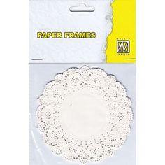 Napperons en papier - Cercles blancs 11.5 cm (12 pièces)