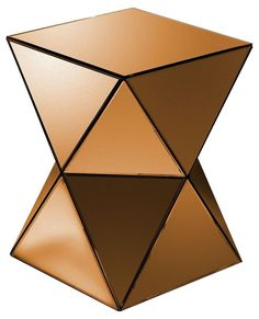 Bronze Triangles Mirrored Pedestal