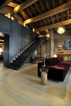 What's inside a ski chalet? - image 91 of 11 Chalet Interior, Interior Stairs, Design Room, Architecture Design, Loft Studio, Modern Staircase, Interior Design Inspiration, Home Deco, My Dream Home