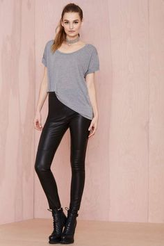 Nasty Gal Leather - The Jett Pant - Pants