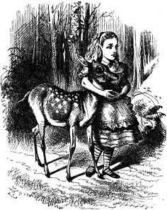 Sir John Tenniel through the looking glass illustrations.