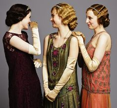 the girls of Downton