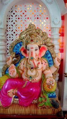Ganapati Bappa at home Largest Collection of Lord Ganesha on the Planet Jai Ganesh, Ganesh Lord, Ganesh Idol, Shree Ganesh, Ganesha Art, Krishna Art, Lord Krishna, Happy Ganesh Chaturthi Images, Ganesh Chaturthi Decoration