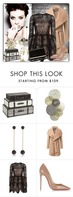 """""""selly"""" by selly111528 ❤ liked on Polyvore featuring Imax Home, Universal Lighting and Decor, Bee Goddess, Alexis, Christian Louboutin and Diane Von Furstenberg"""