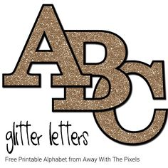 This set of free printable letters from A - Z (inc Ñ) have a glitter pattern and will add some glittery shine to your next craft project.