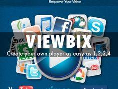 """Viewbix: Create your own player"" - A Haiku Deck by JM Forest #setyourstoryfree"