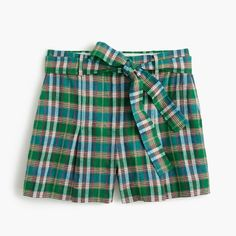 High-waisted short in vintage plaid