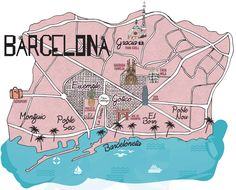 CARTE BARCELONE - by MilkwithMint.com