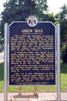 Arrow Rock info sign in Arrow Rock, Missouri. Arrow Rock State Historic Site