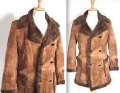 Vintage 1970's Coat // 60s 70s Dark Brown by TrueValueVintage; definitely a popular coat then!