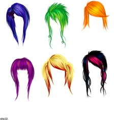 Scene Hair to the max!! Wonder which one I'll end up doing:)
