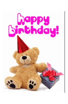 Happy Birthday pink teddy bear birthday happy birthday birthday greeting birthday wishes animated birthday Send Birthday Card, 50th Birthday Wishes, Happy Birthday Quotes, Birthday Board, Birthday Greetings, It's Your Birthday, Birthday Sayings, Birthday Cake, Birthday Pictures