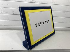 Blue and yellow picture frame holds x University of Michigan UofM colors/ Certificate frame/ stand alone