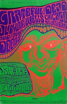Wes Wilson | The Doors & The Grateful Dead at the Fillmore 1/13/67