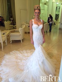 Gorgeous looking Berta bride - front and back ❤️